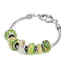pandora charm bracelet clasp images 22k golden plated cute penguin peridot green murano glass beads jpg