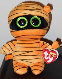 owl mask halloween swoops 2013 ty beanie babie boo 6in brown white owl sparkle eyes