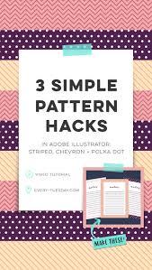illustrator pattern polka dots 3 simple pattern hacks in adobe illustrator striped chevron