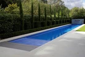 Pool Design Clean Lap Pool Design Ideas With Trimmed Bush Beside - Backyard lap pool designs