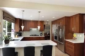 Kitchen Layout With Island by Kitchen Style U Shaped Kitchen Layouts With Island Brown Cabinets
