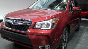 red subaru forester 2016 2014 subaru forester xt turbo crashes the 2012 la auto show youtube