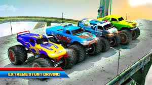 free monster truck racing games car racing games 4x4 monster truck impossible stunt driving