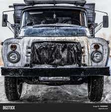 jeep old truck old truck old soviet truck front image u0026 photo bigstock