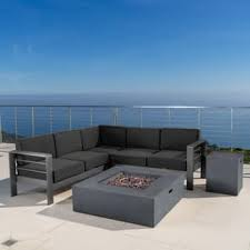Outdoor Sofa With Chaise Aluminum Outdoor Sofas Chairs U0026 Sectionals Shop The Best Deals