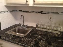backsplash for busy granite kitchen ideas grouting tile in subway