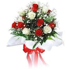 flower gift buy flower gift beautiful n white roses online best prices
