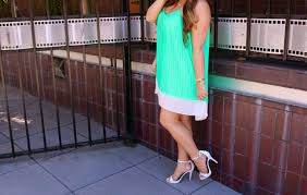 mint green dress white ankle strap heels missy on madison