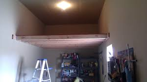 simple loft storage in the garage for the home pinterest