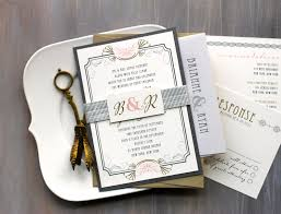 deco wedding invitations deco wedding invitations modern gold and silver wedding