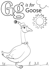 letter g is for goose coloring page free printable coloring pages