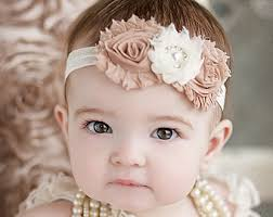 headbands for baby beige headband etsy