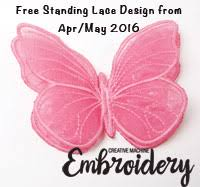 free standing lace butterfly
