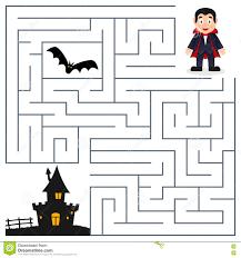 halloween maze dracula u0026 haunted house stock vector image
