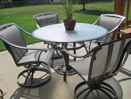 Swivel Patio Chair Furniture Black Wrought Iron Patio Furniture With 4 Swivel Patio