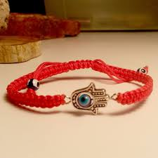 evil bracelet images Lucky charms 18 orange cord hamsa evil eye bracelet lucky charms 18 jpg