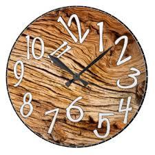 aged wood wall clocks zazzle