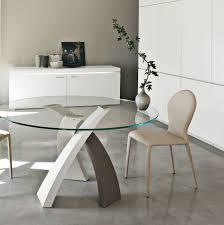 table de cuisine ronde en verre pied central table de cuisine ronde en verre pied central maison design