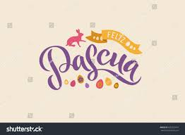 happy thanksgiving day in spanish happy easter spanish calligraphy greeting card stock vector
