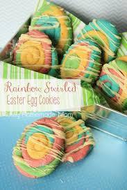 sugar eggs easter rainbow swirled easter egg cookies mostly