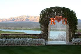wedding arch las vegas our wedding ceremony area with led initials from led unplugged