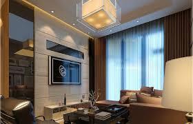 3d design of modern living room with square pendant light 3d house
