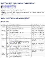 Dell Diagnostic Lights Download Dell Precision 650 User U0027s Manual For Free Manualagent