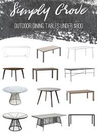 modern outdoor dining table modern outdoor dining tables under 800 simply grove
