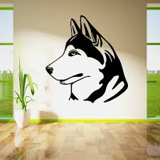 popular wall mural dog buy cheap wall mural dog lots from china dog friend husky chien wall art sticker vinyl cutving home decor wall sticker dog decal removable