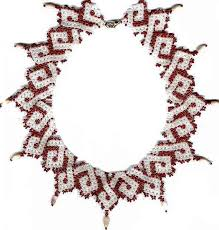 bead necklace patterns images Beginner 39 s pattern for seed beaded old town necklace detailed jpg