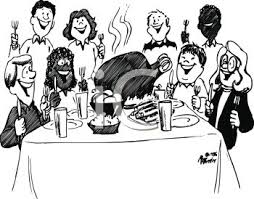 at thanksgiving dinner feast royalty free clip