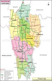 Blank India Map With State Boundaries by Mizoram State Map Map Of Mizoram