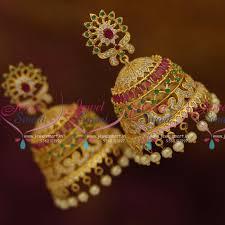 kerala style jhumka earrings big jhumka earrings gold beautify themselves with earrings