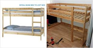 A Frame Bunk Bed Turn A Mydal Bunkbed Into A Kura Loft Bed Ikea Hackers