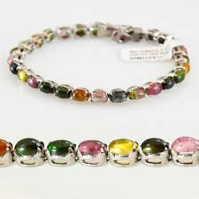 multi colored stones bracelet images Tourmaline sterling silver bracelet multi color radiance kashmir jpg