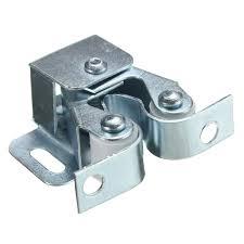 silver roller catch cupboard cabinet door latch twin double