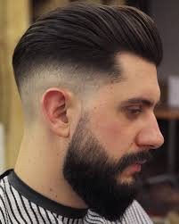fedi hairstyle hayden cassidy medium mens haircut low skin fade beard