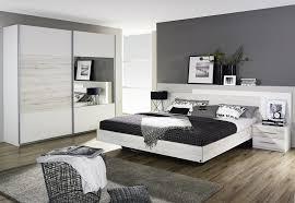 Schlafzimmer Quadra Schlafzimmer Komplett Schrank Bett 2 Nakos Weiss Eiche Sanremo