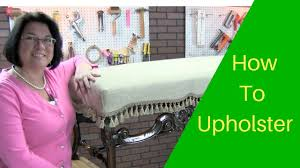 how to upholster this antique bench part 1 youtube