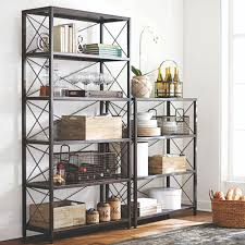home decorators collection ryan burnished black open bookcase