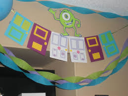 Monster Inc Decorations Monsters Inc Birthday Party Banner Door Banner Monsters