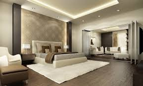 Download Modern Penthouse Master Bedroom With Lounge Interior - Contemporary master bedroom design ideas