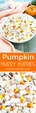 pumpkin candy corn pumpkin muddy buddies 3 tummies