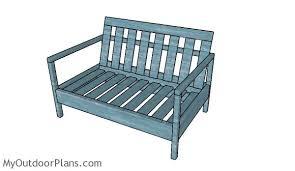 outdoor loveseat plans myoutdoorplans free woodworking plans