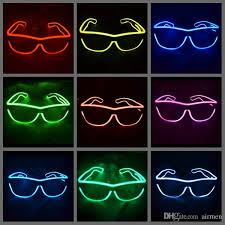 simple el glasses el wire fashion neon led light glow sun glasses