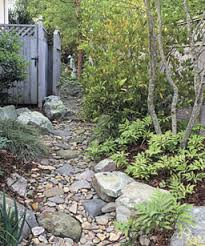 Small Shrubs For Front Yard - a gently meandering path offers planting pockets even in this