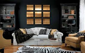 Living Room Ideas Gold Wallpaper Purple Gold And Black Living Room House Design Ideas