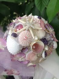 seashell bouquet seashell bouquet wedding lavender pink bouquet tropical