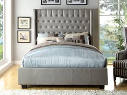 Full Size Upholstered Headboard by Tufted Wingback Headboard Gallery Tufted Wingback Headboard Diy