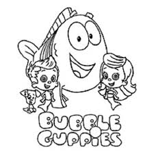 free bubble guppies coloring pages bubble guppies coloring page